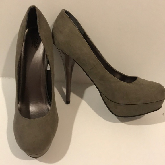 48c357eb0a5e 👠MOSSIMO taupe high heel pumps NWT